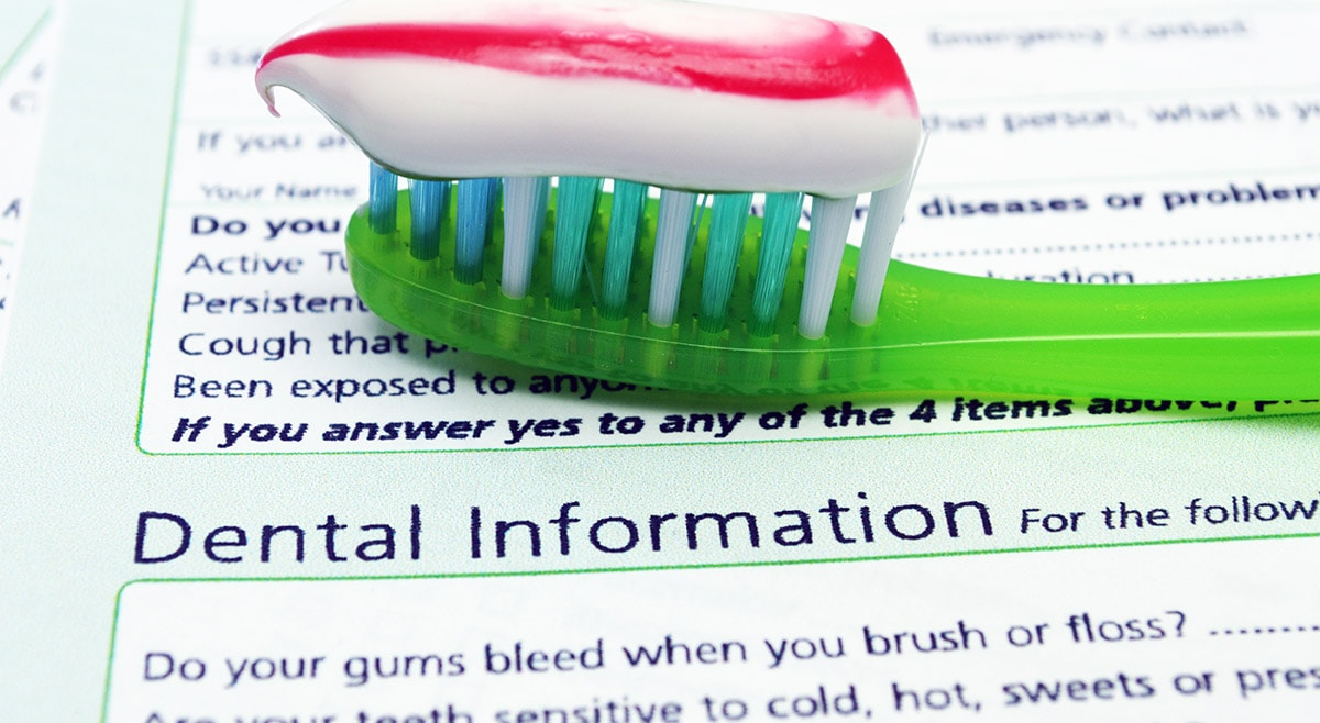Dental health questionaire at Peelhouse Dental Care in Widnes Merseyside
